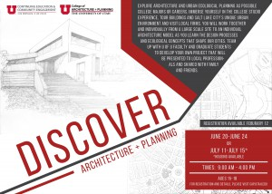 Discover Architecture + Planning 2016 Summer Programs