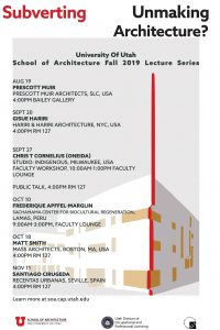 SOA Lecture Series announced for Fall 2019