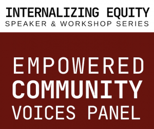 Empowered Community Voices Panel on March 18 at noon
